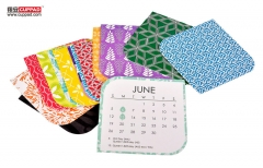 Calendar Absorbent Paper Coaster For Drink