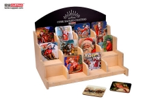 Christmas Home MDF Coaster Wooden Shelf Set For Wholesale
