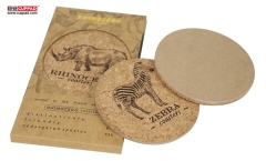 Laser Printing Logo Cork Coaster Set For Personalized Gift Box