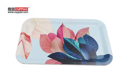 New design Colorful Flower Anti-Scratching MDF tray