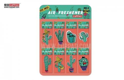 cactus paper car air freshener with custom