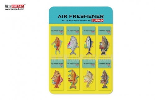 2018 fish paper car air freshener for custom