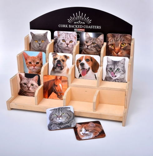 Shelf Pet Dog Cat Picture MDF Coasters With Gift Box For Wholesale