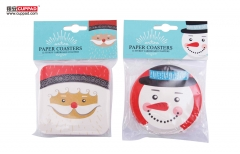 Chrismas Snow Drawing Cup Paper Coaster With Package