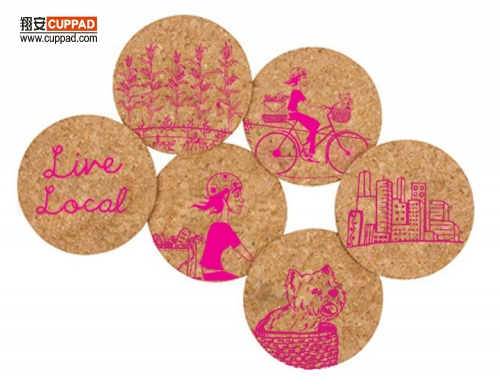 Cork Coasters Colorful Printing