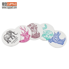 Elephant Transparetnt Box Cotton Coaster