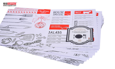 White Paper Placemats One Time Used