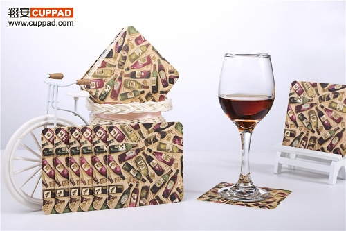 Beer Wine Bottle Paper Coasters