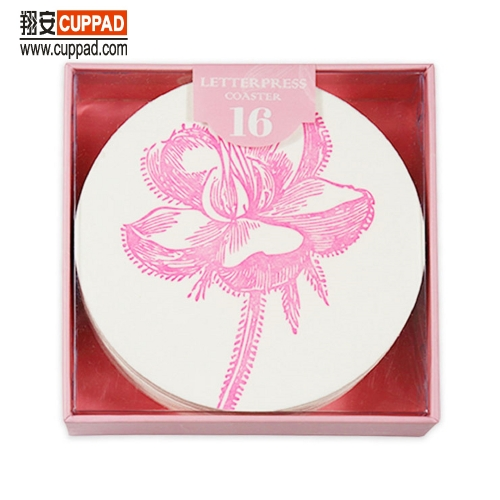 Cotton Coaster Lotus Flower Pink Gift Package