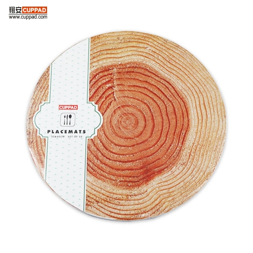 Round Natural Tree Pattern Paper Placemats Table