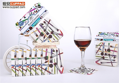 Cardboard Paper Coasters Drawing Pencil