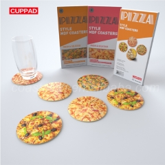 Pizza Food Package MDF Coaster Cuppad