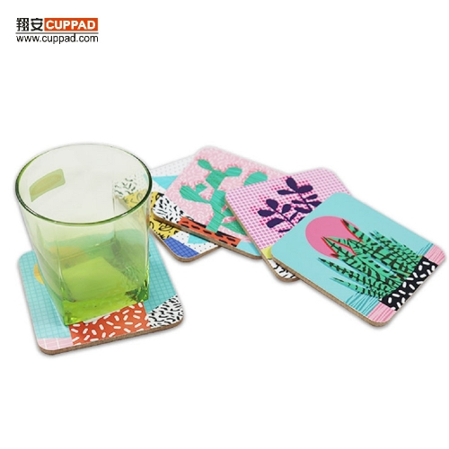 Non Scratching Cactus Flower Drink MDF Coasters Potting