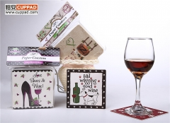 Personalized Cardboard Paper Coasters Illustration Design