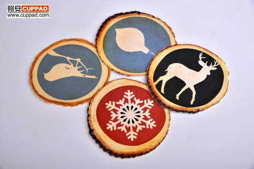 Wooden Paper Coaster Cup Sets Cardboard