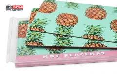 Restaurant MDF Placemat Water Resistant