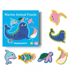 Newest design cartoon big pieces toddler cognition early educational game jigsaw puzzle toy for kids